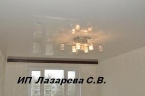 Глянцевый натяжной потолок (гарпунная система)